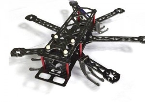 Mini-HEX Carbon Fiber QAV 6 Axis 300mm Hexacopter Frame