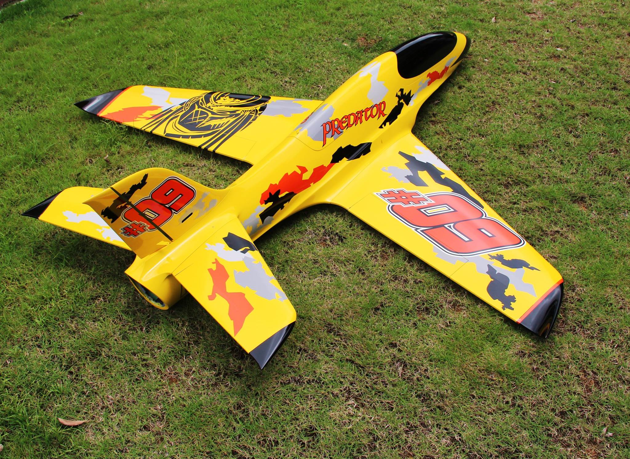 Pilot rc 2 2m Predator jet 04, retracts,air trap,tail pipe