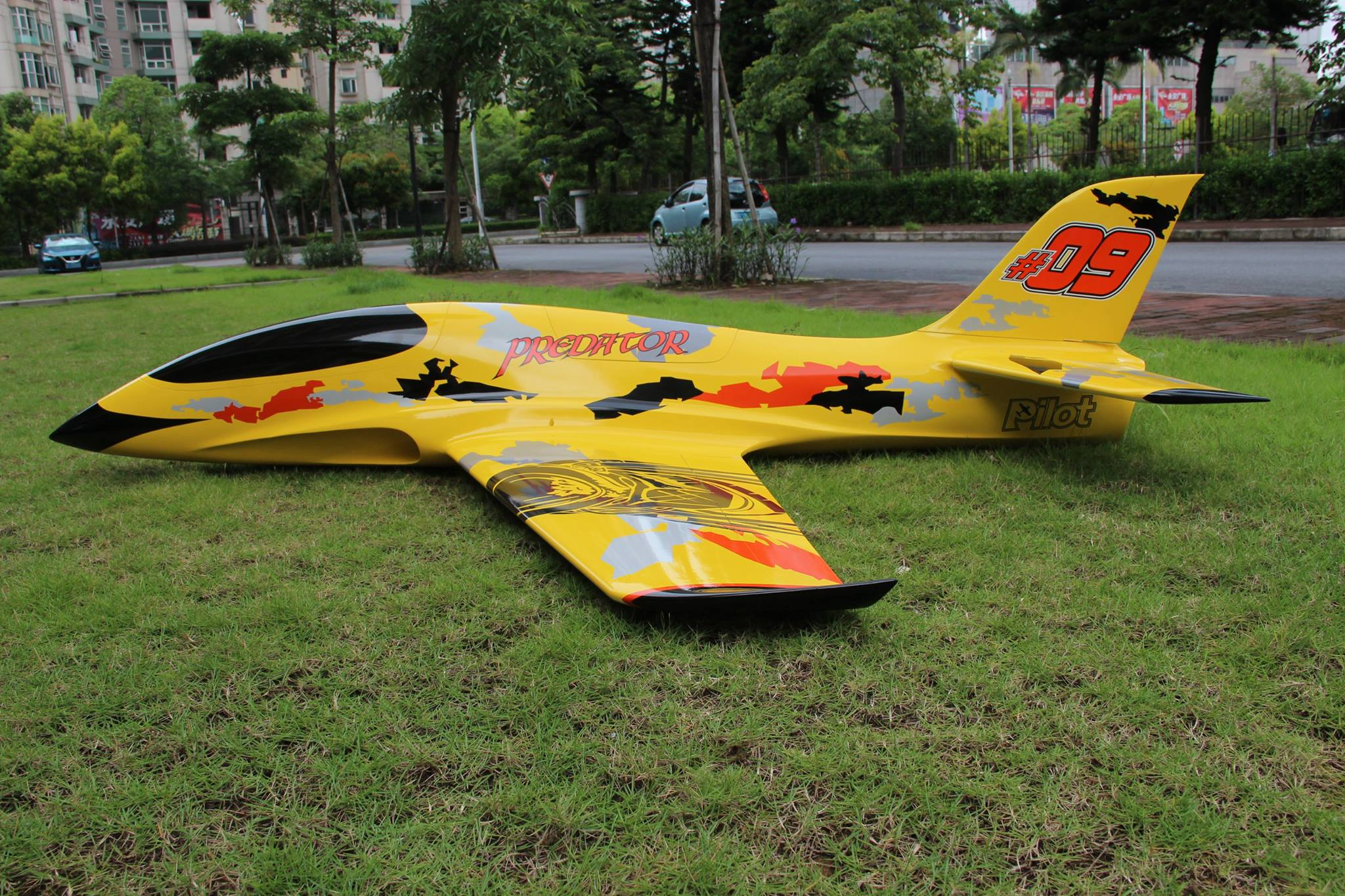 Pilot rc 2 2m Predator jet 04, retracts,air trap,tail pipe  -