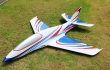Pilot rc Predator jet  blue white red 07