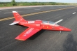 Pilot rc 2.35m Dolphin jet Ferrari scheme, retracts,air trap,tail pipe