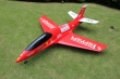 Pilot rc 2.2m Predator jet Ferrai scheme, retracts,air trap,tail pipe.