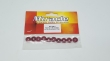 Metal washer red 10.5x3mm 10pcs