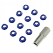 12 Pieces Radio Control Switch Fixed Nut & Installation Spanner Set for JR Futaba - Blue