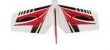 TOP RC  HORIZONTAL TAIL wing RED 1400MM Riot